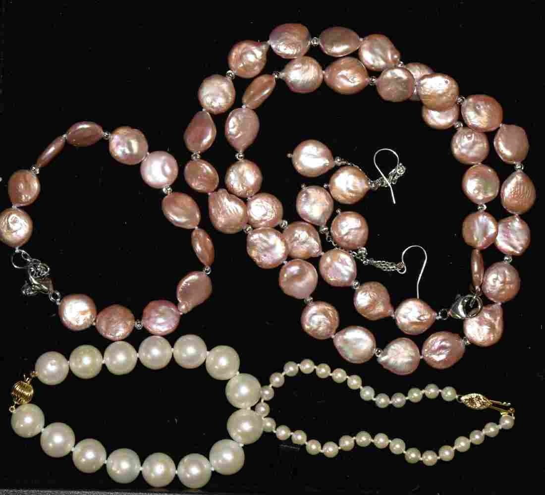 14k and Cultured Pearl Jewelry