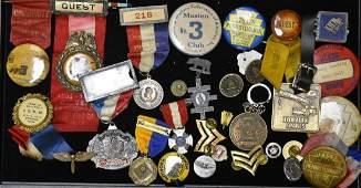 Early Pin Backs, Ribbons, and Licenses