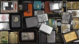 Large Collection of Zippo and Other Lighters
