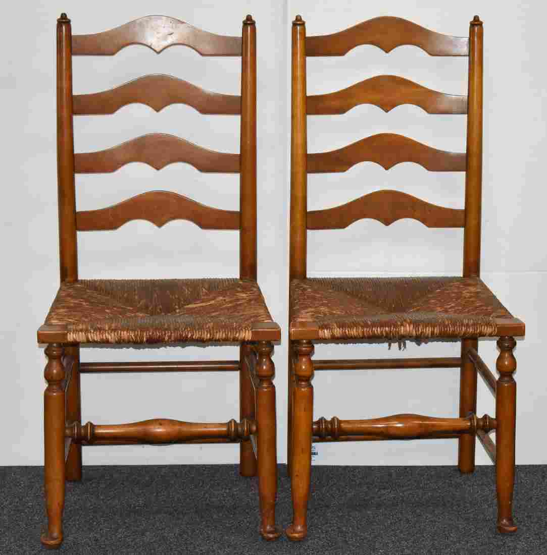 Pair of 1950's Stickley and another Ladder Back Chairs