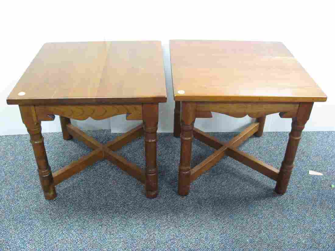 Pair of Cherry Stickley End Tables