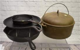 Grouping of Cast Iron Cook Ware