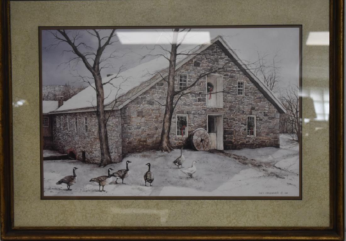 Print of a Barn by Dan Campanelli