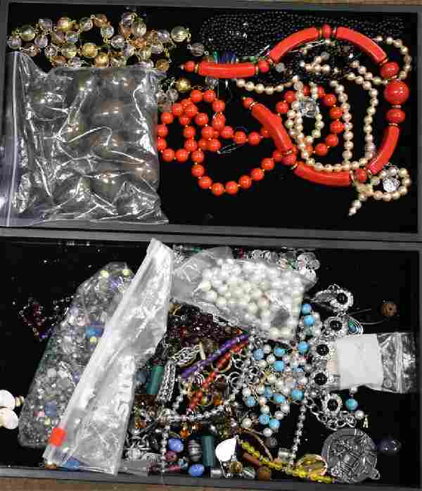 Two Trays of Mixed Jewelry