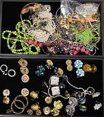 Two Trays of Costume Jewelry