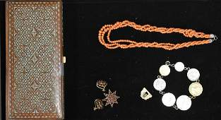 Vintage Jewelry and a Trinket Box