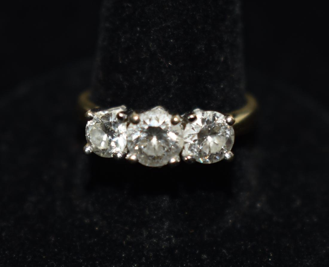 Quality Three Stone Engagement Ring - 3