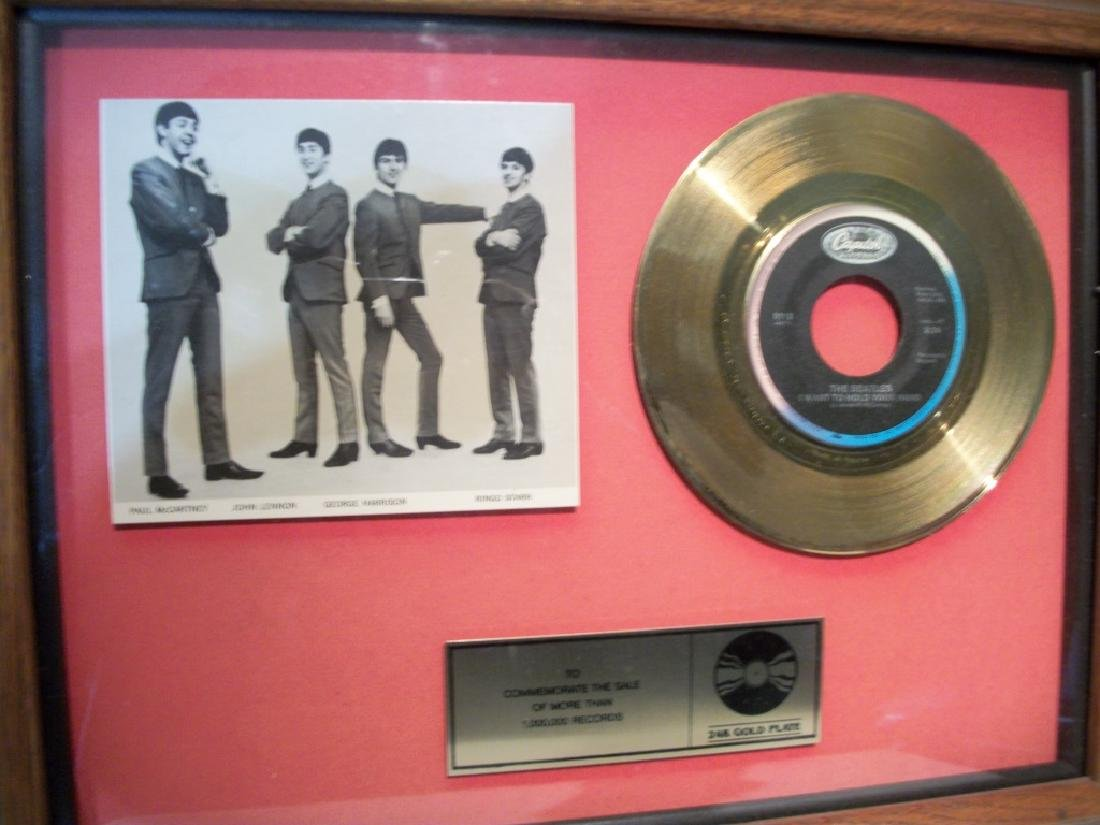 """Beatles, """"I Want To Hold Your Hand"""" Gold Album"""