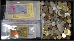 Collection of Foreign Coins and Currency