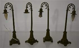 Set of Four Vintage Lionel Street Lamps