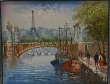 Paris Street Scene Signed Burnett
