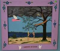 "Folk Art ""Garden of Eden"" by Frank Pickle"