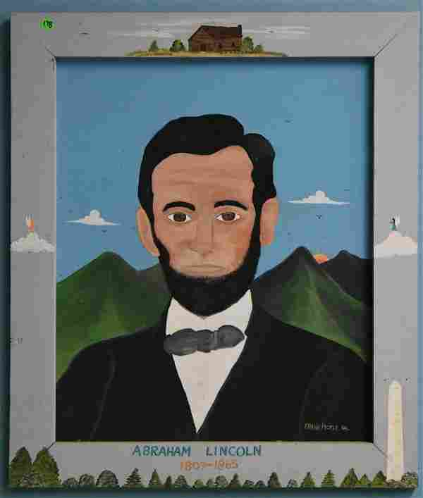"Folk Art ""Abraham Lincoln"" by Frank Pickle"