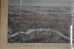Large Folio Lithograph of Philadelphia