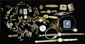 Vintage Watch and Cufflink Grouping