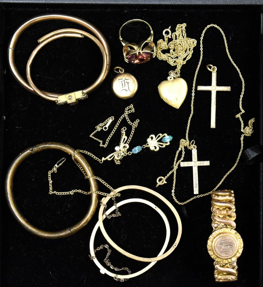 Vintage Gold Tone Jewelry Grouping