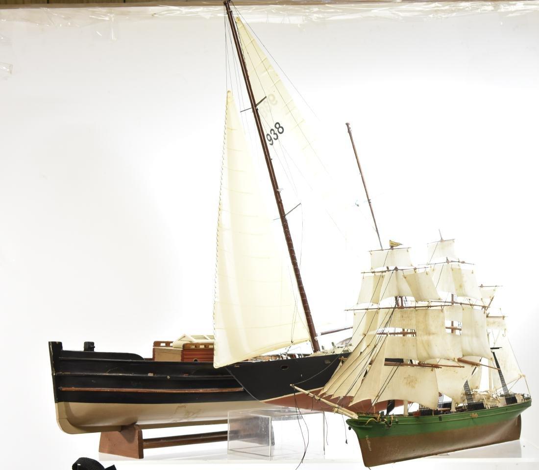Three Model Ships