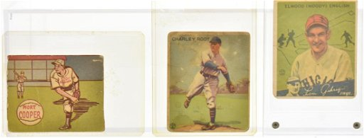 Three Early Baseball Cards
