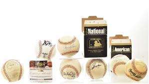 Grouping of Autographed Baseballs