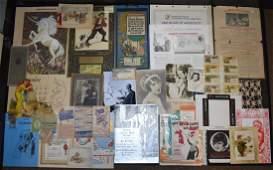 Early Photos, Ephemera, and Calendars