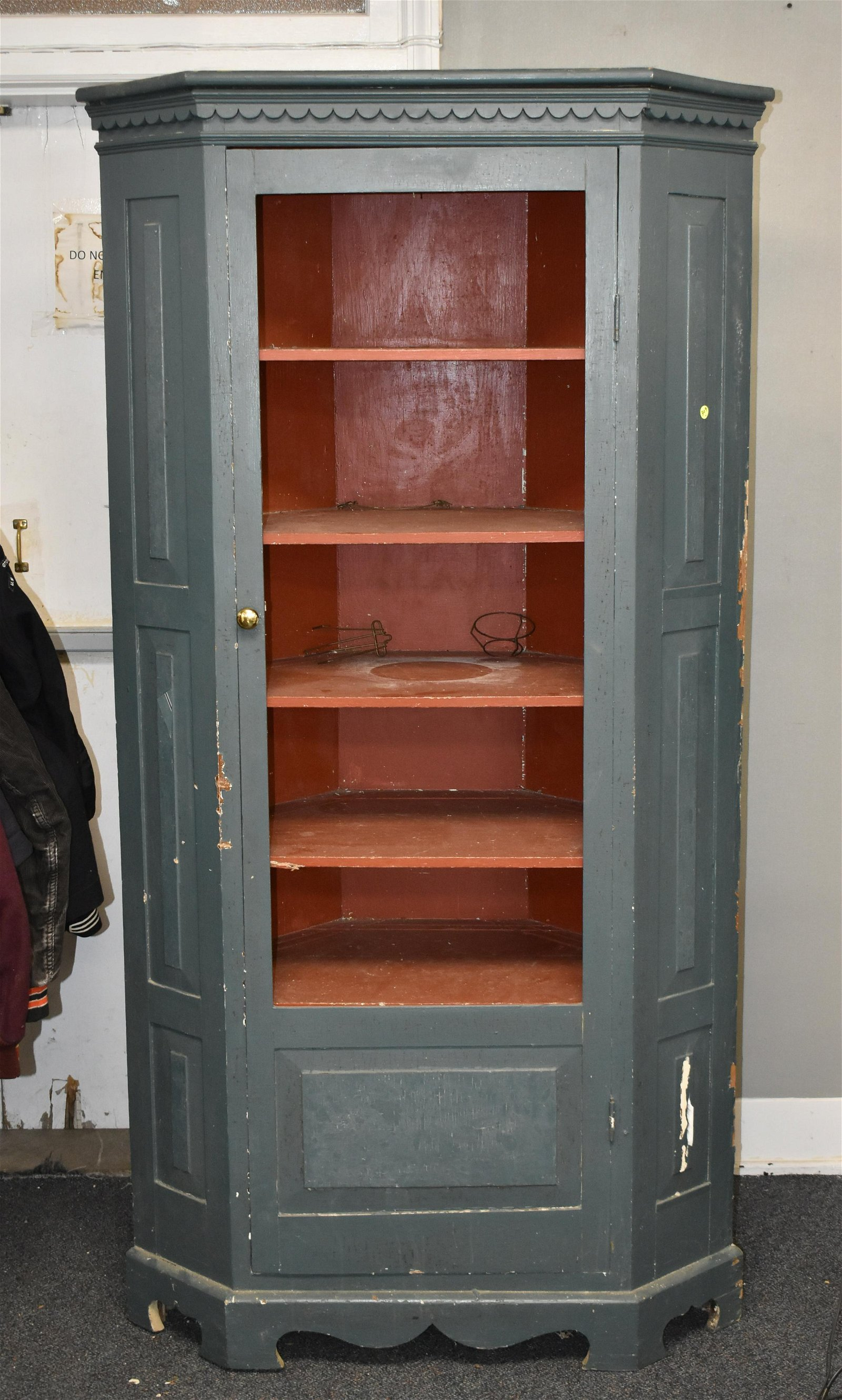 19th Century Chimney Style Corner Cupboard