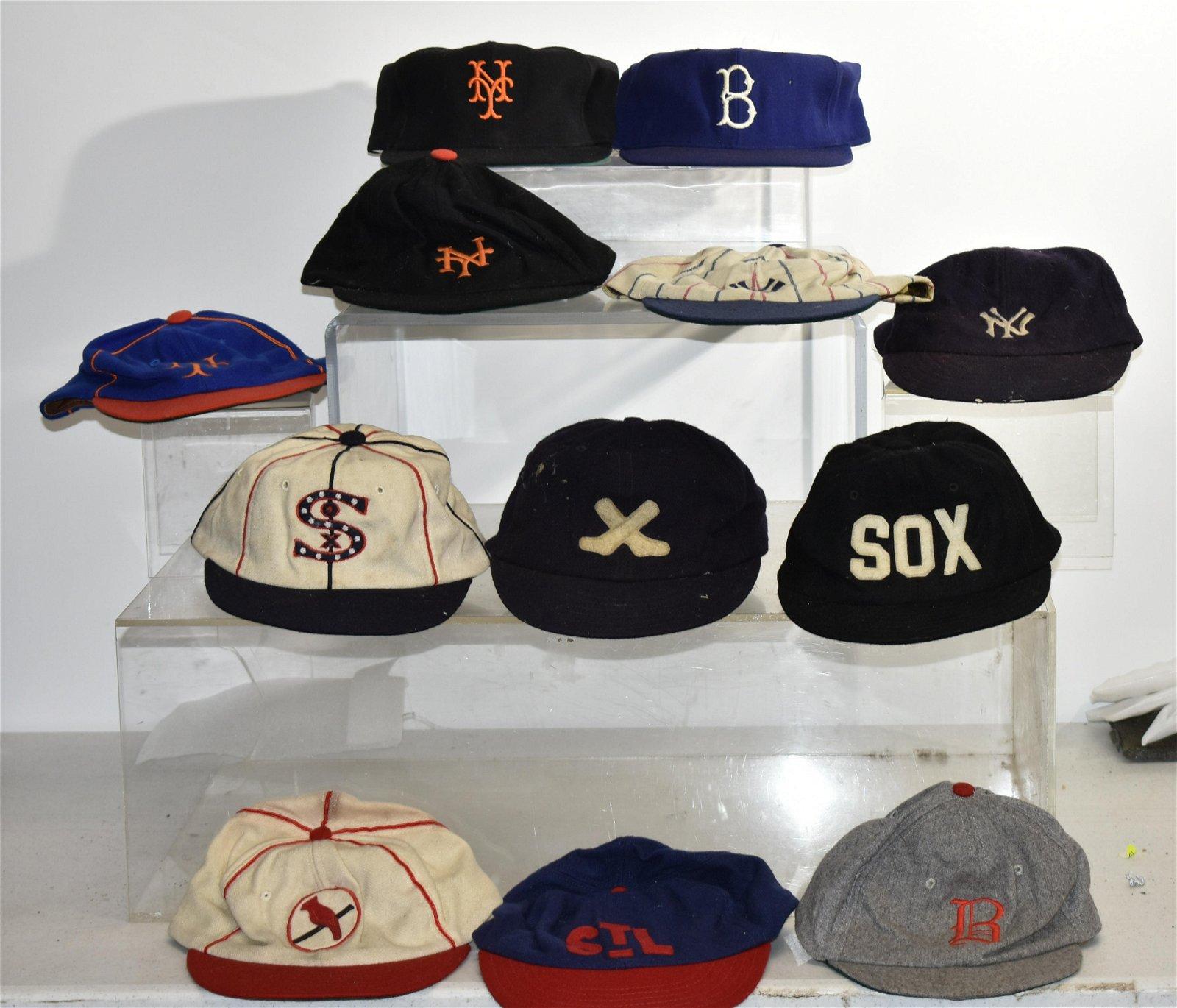 12 MLB Baseball Caps Including many Throwbacks
