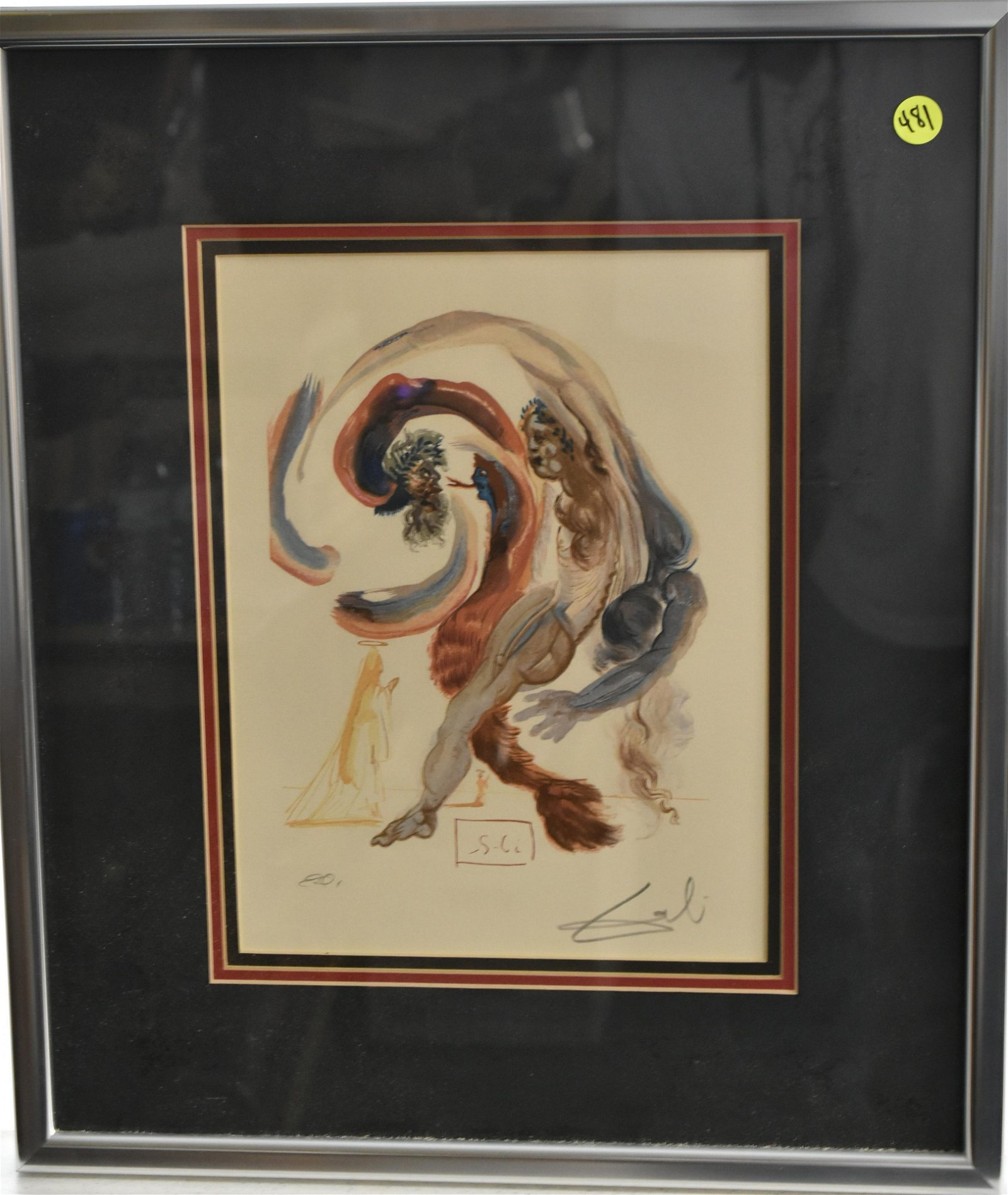 Signed Quality Abstract Watercolor Unknown Artist