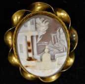 10K Gold Filled Victorian Cameo