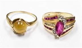 10K and 14K Gold Ladies Rings