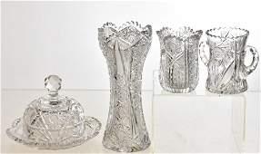 Victorian American Brilliant Cut Glass