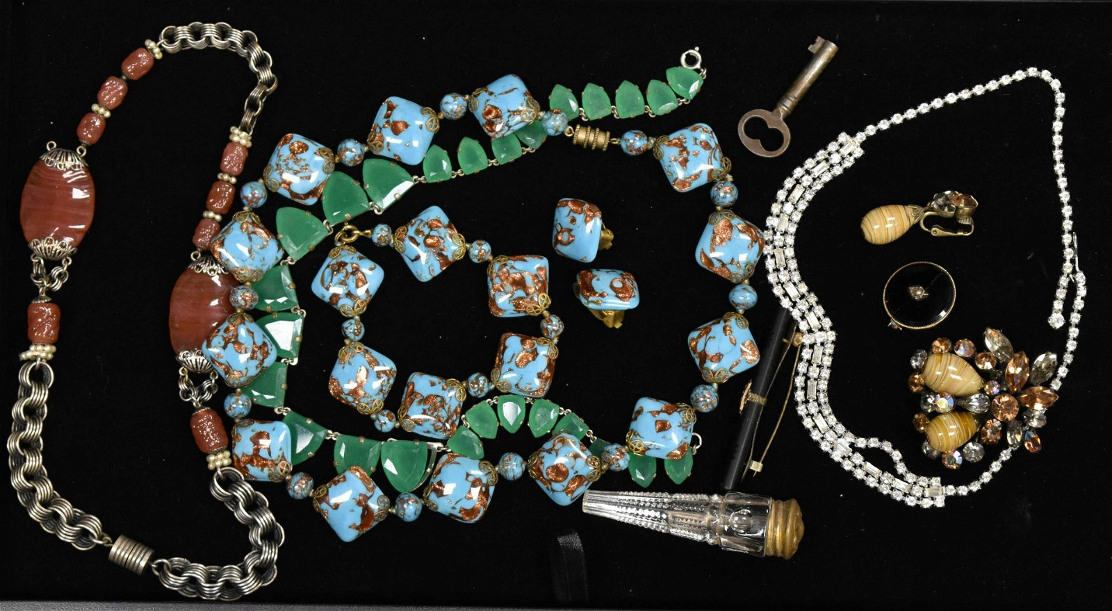 Vintage Glass and Mineral Jewelry