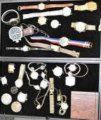 Two Trays of Watches and Movements