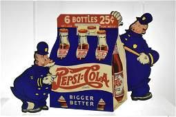 Vintage Pepsi Cola Two Side Cardboard Sign