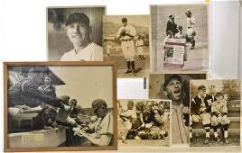 7 Early 20th C. Chicago Cubs Photos 1 Signed