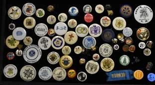 Mixed Vintage Pin Backs