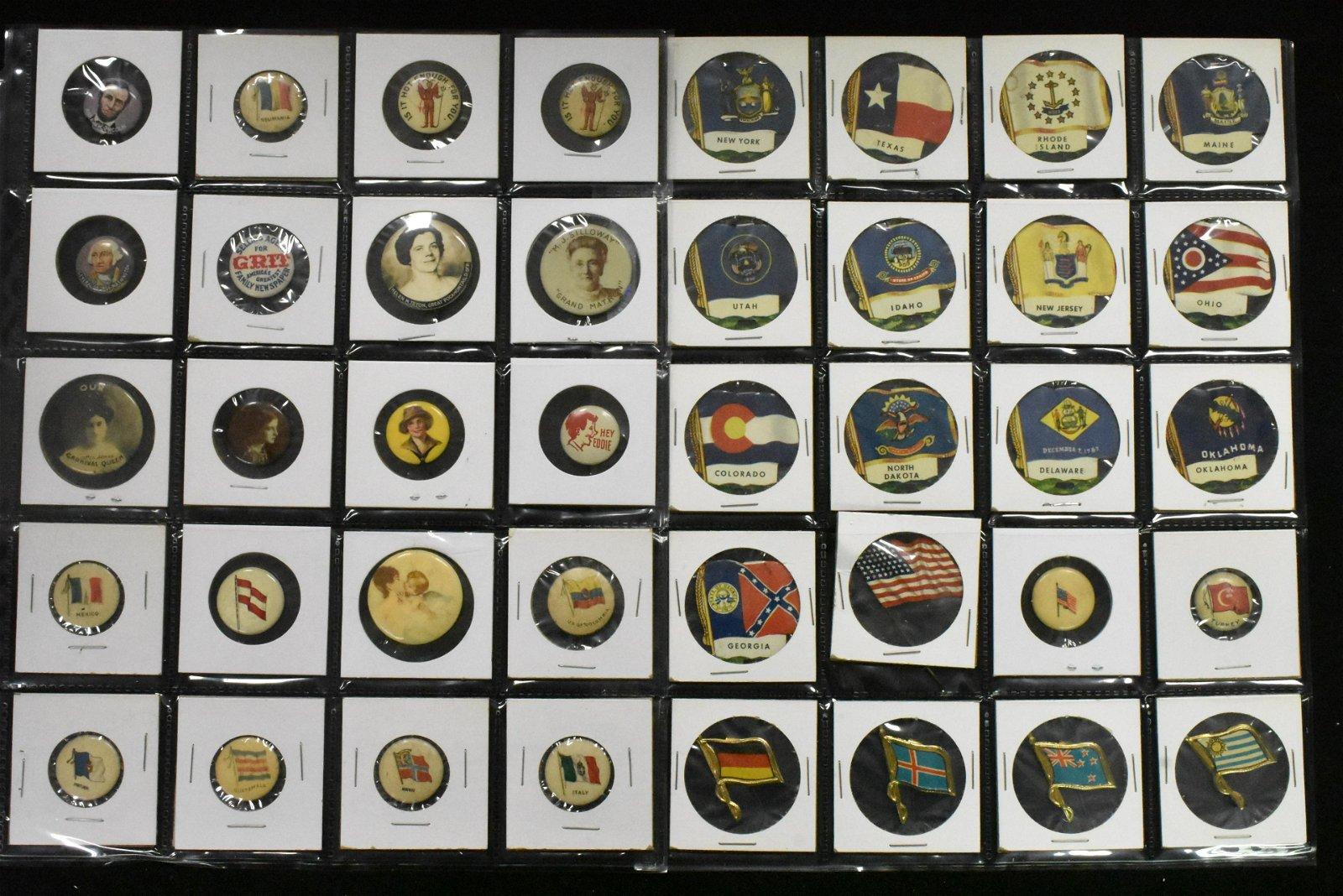 State Flag Pins, Lapel Pins and Pin Backs
