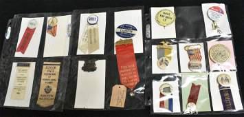 Mixed Vintage Ribbons and Pins