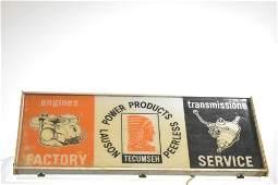 Tecumseh Power Products Advertising Light
