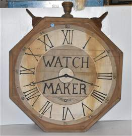 Late 19thC 2 Sided Watchmaker's Trade Sign