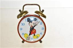 Vintage Mickey Mouse Walt Disney Alarm Clock