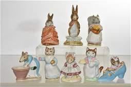 Eight Beswick Beatrix Potter Figures