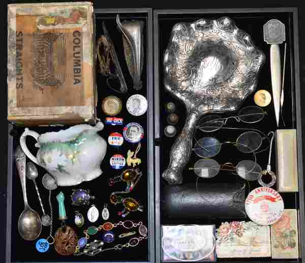 Two Trays of Costume Jewelry & an Eclectic Group