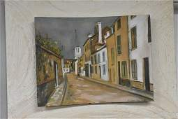Painting Attributed to Maurice Utrillo 1883-1955