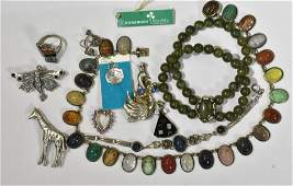 Figural and other Sterling Jewelry