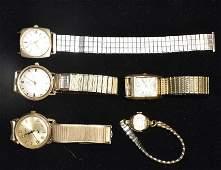 Five Vintage Wrist Watches