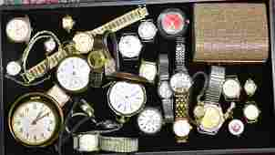Collection of Wrist and Pocket Watches