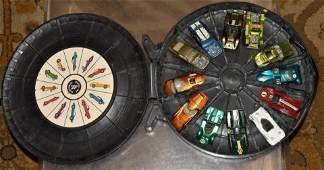 12 Red Line Hot Wheels w/ Hot Wheels Rally Case