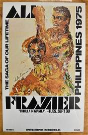 Muhammad Ali Vs. Joe Frazier Original Poster