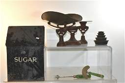 General Store Scale and a Sugar Box