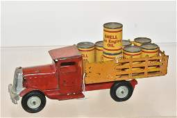 Early Tin Shell Motor Oil Truck